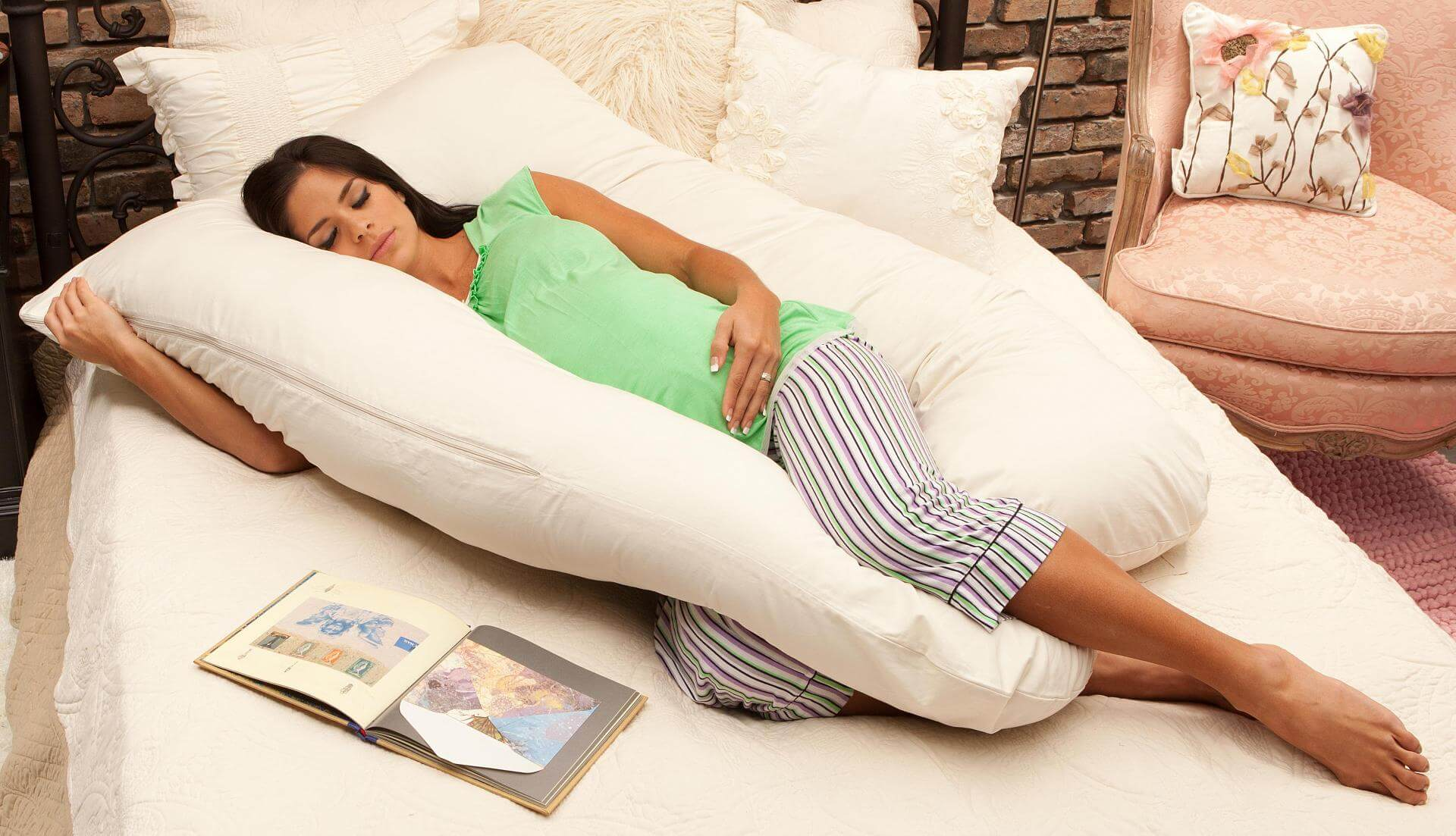 woman on the pillow